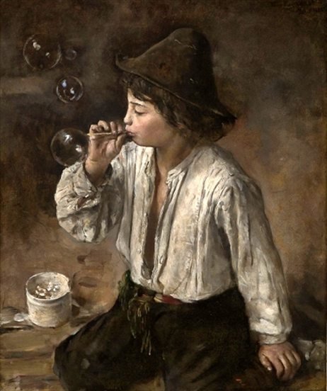 Hans_Olaf_Heyerdahl_-_Boy_Blowing_Bubbles